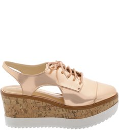 Oxford Flatform Cortiça Rose Tan