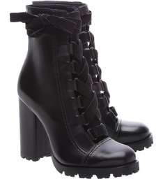 Combat Boots Sola Tratorada Leather Black