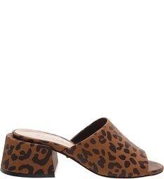 Sandália Mule Animal Print