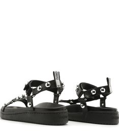 Sporty Sandal Studs Black