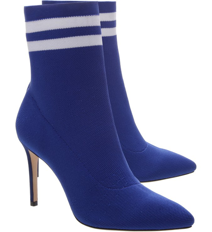 Gisela Sock Booties Blue