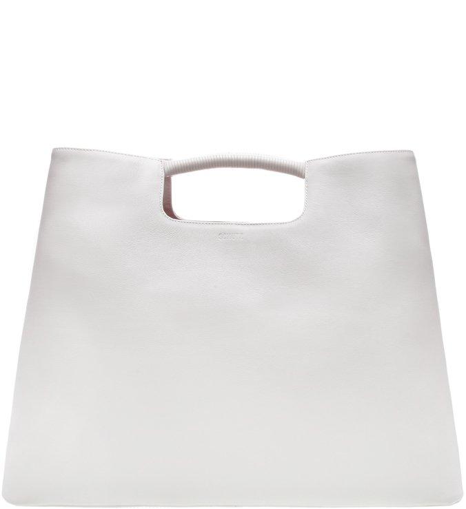 Maxi Hobo Dara Leather White