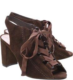 Sandal Boot Block Heel Lace up Aloe