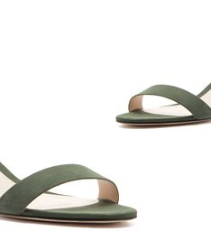 Sandália Minimal Block Heel Nobuck Emerald