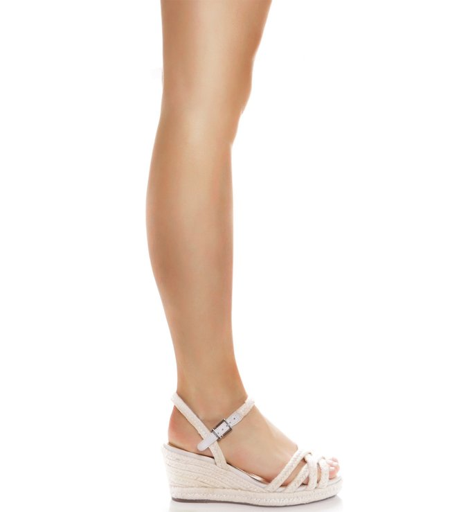 Wedge Natural Multistraps Pearl