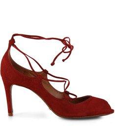 Peep Toe Marching Orders Vermelho