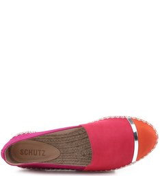 Flat Espadrille Tricolor Hot Pink