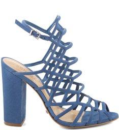 Sandália Juliana Salto Bloco Snorkel Blue