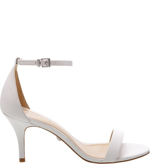 Sandália Gisele Kitten Heel White