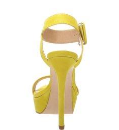 Sandália Salto Meia Pata Nobuck Yellow