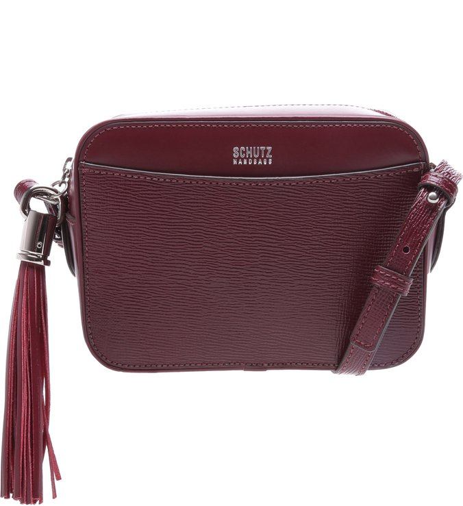 Crossbody Box Tassel Red