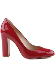 Scarpin Salto Grosso Red