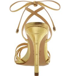 Sandália Salto Strings Gold.