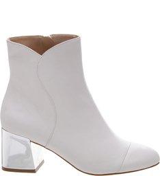 Bota Metallic Block Heel White