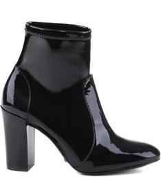 Skinny Strech Boots Varnish Black