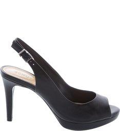 Peep Toe Lady Black