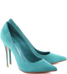 Scarpin Stiletto Lake Green