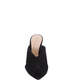 Mule High Straps Nobuck Black