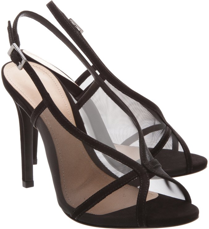 Slingback Sandal Sheer Black