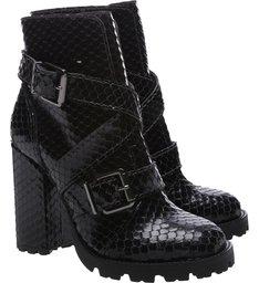 Combat Boot Bright Snake Black