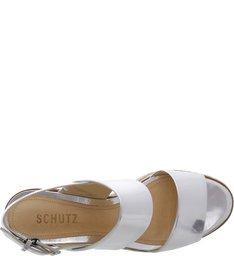 Sandália Flatform Shine Silver