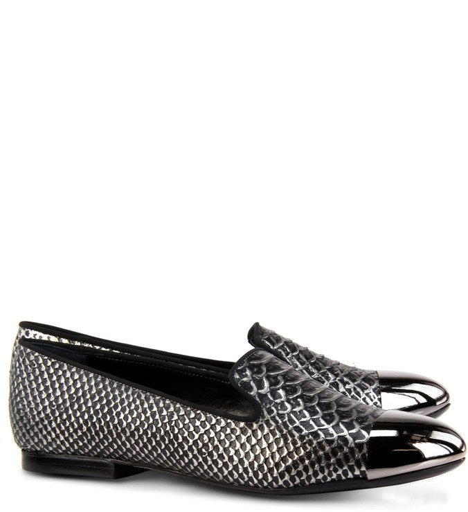 Slipper Cap Toe Croco