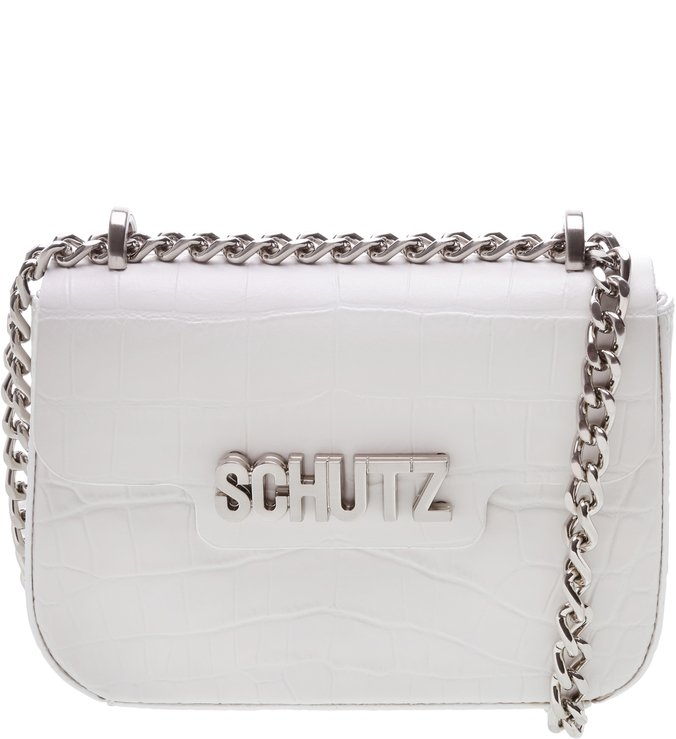 CROSSBODY SCHUTZ ICON CROCO WHITE