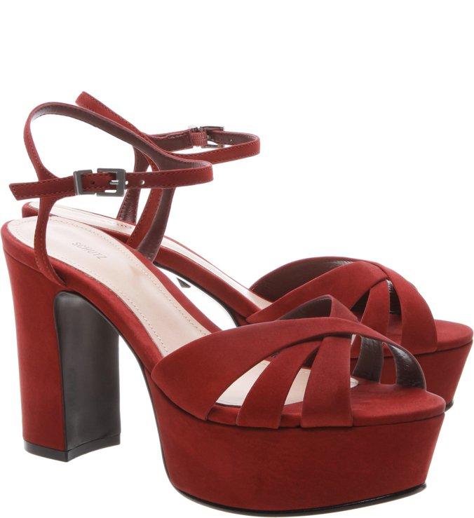 Sandália Carrie Block Heel Red