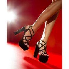 Sandália Seventies Slim Stripes Black