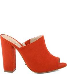 Mule Block Heel Nice Orange