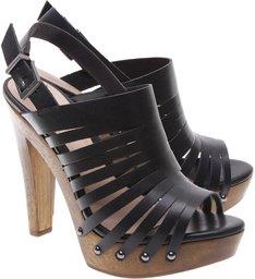 Sandália Wood Multi Stripe Black