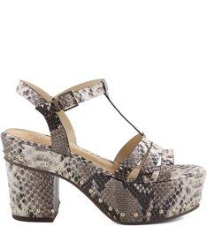 Sandália Block Heel Studded Pearl