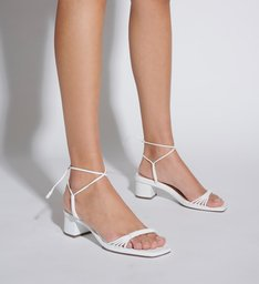 Sandália Block Heel Strings White