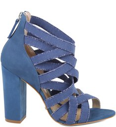 Sandália Elastic Straps Jeans