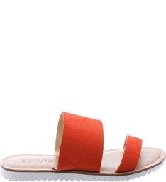 Flat Slide Double Strap Nice Orange