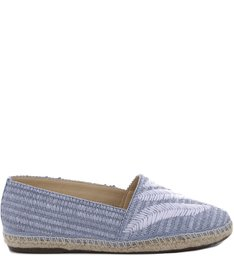 Flat Espadrille Embroided Azul
