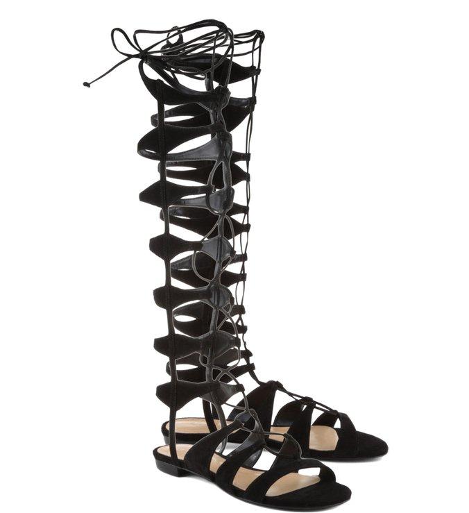 Sandália Gladiadora Lace Up Black