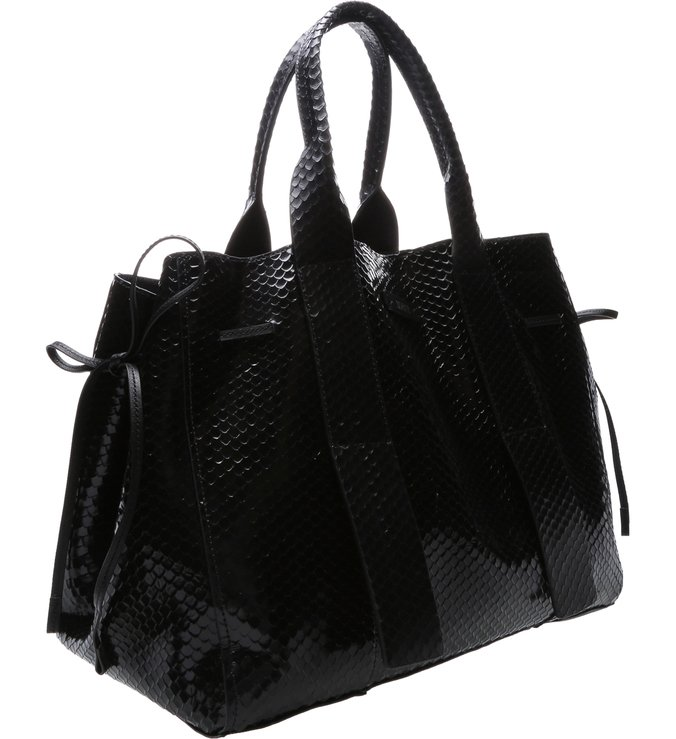 Shopping Maxi Bag Bright Snake Black