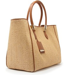 Shopping Bag Ráfia Neutral
