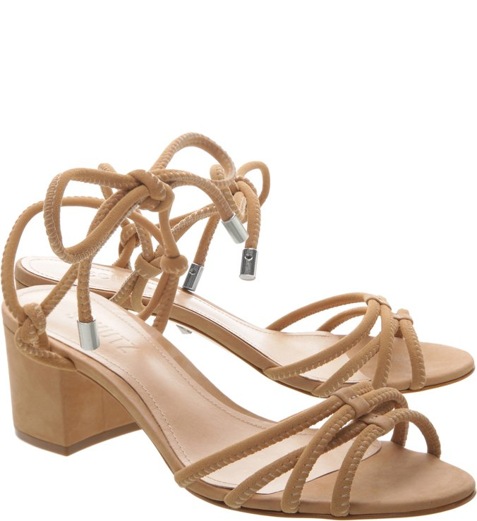 Sandália Block Heel Strings Nude
