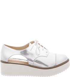 Oxford Flatform Cut Out Prata
