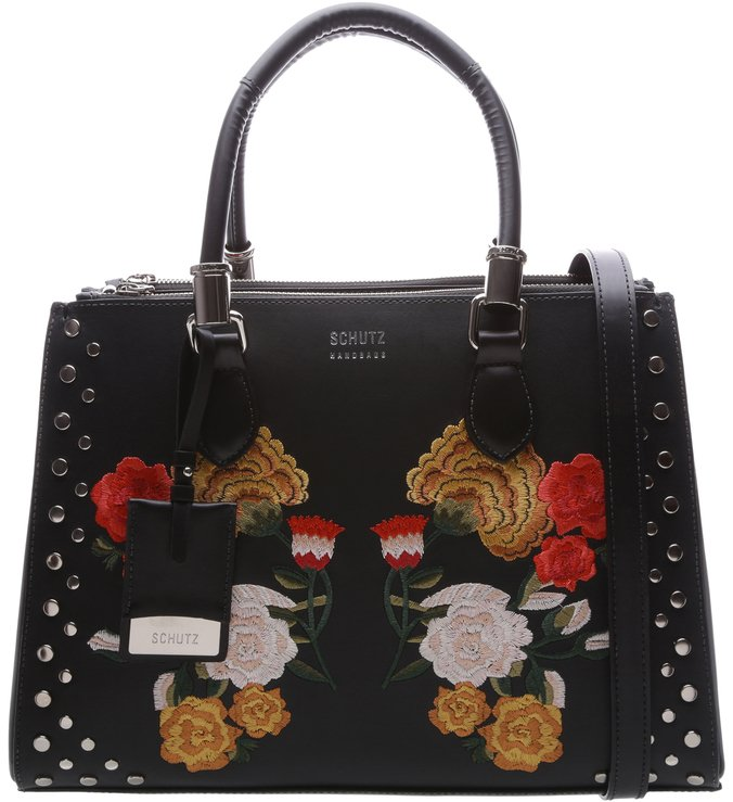 Lorena Embroided Black