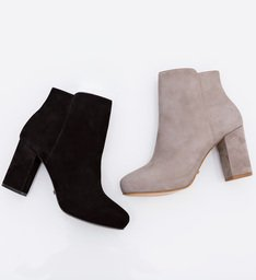 Ankle Boot Block Heel Black