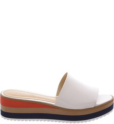Color Flatform Slide Pearl
