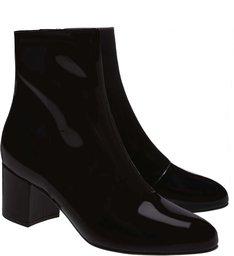 Bota Block Heel Verniz Black
