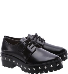 Oxford Thick Sole Studs Black