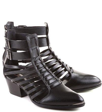 Ankle Boot Tiras Preta
