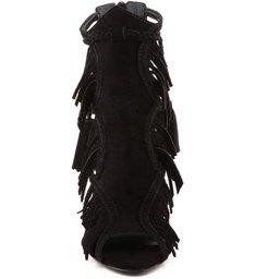 Sandália Nobuck Fringes Black