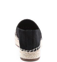 Flatform Espadrille Black