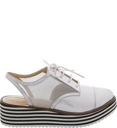 Oxford Flatform Show Off Silver